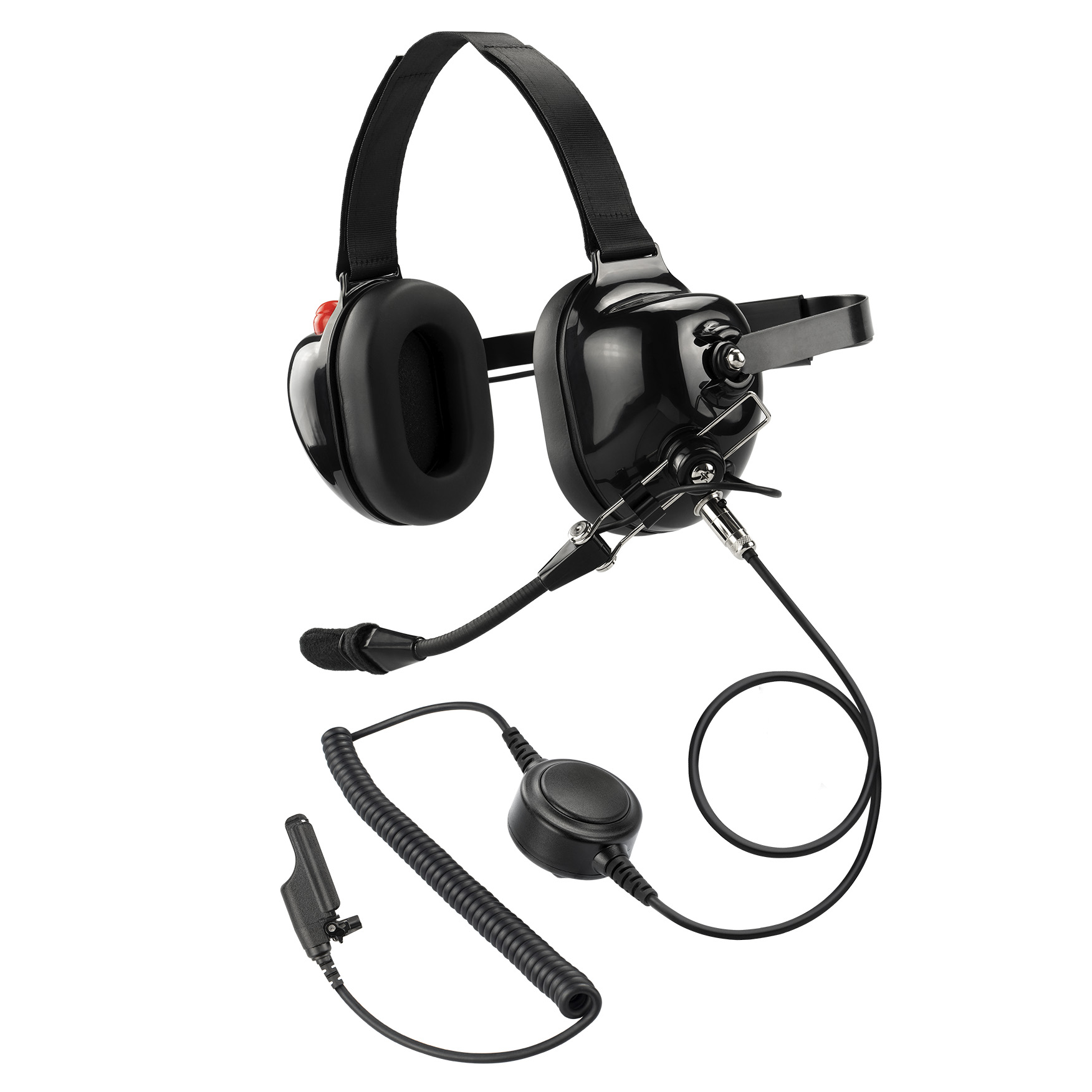 AIRSN XTS2500 Earpiece for Motorola Radio XTS5000 XTS3000 Walkie Talkie with Acoustic Tube and Mic/&PTT Surveillance Headset